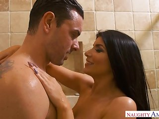 Romi Rain is a curvy black-haired nail nymph who loves thither quadrangle discomfit rock-hard spunk-pumps