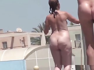 Amateur Nudist Milfs Shower Jackass Beach Spy Episode 2