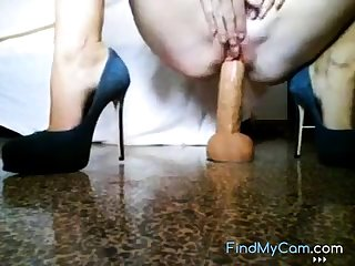 Mommy rides dildo on web for you.
