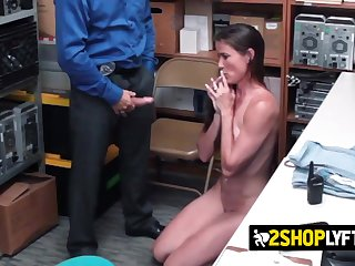 Sofie Marie is coerced at the end of one's tether officer