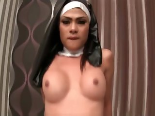 Sexy Ghetto-blaster Anita Nun Bareback Fucking