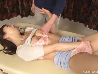 Mature lay Japanese cosset Shinkawa Chihiro plays with her pussy