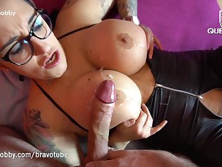 QueenParis suck together with fuck a lucky guys cock