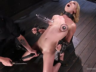 Brave Lily Labeau want to try all sex machines with the addition of BDSM games