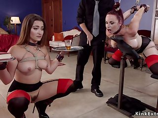 Lucky dude fucks violated slaves in bdsm