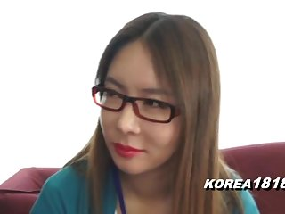 KOREA1818.COM - Korean Lady on touching Spectacle Glasses