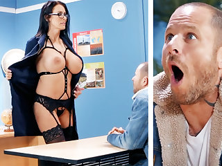 Sexy teacher hardcore fucks chum elbow school