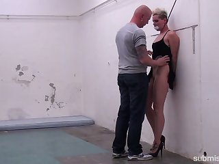 Submissive pale hustler with rounded ass Angela Bound is pounded doggy