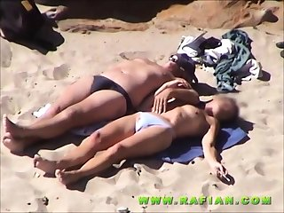 Public voyeur outdoors sexual relations cumshot on the littoral