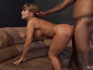 Giant breasted sexpot Ava Devine gets brutally analfucked by black hunk