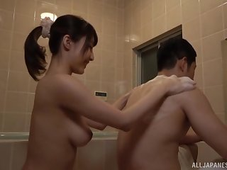 Pass a motion blowjob and a cumshot in mouth for Japanese babe Ayami Shunka