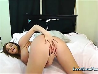 Beautiful Pregnant Milf Milking and Flashing