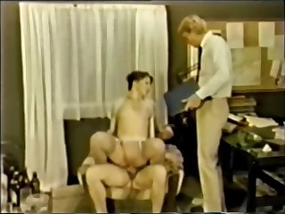 Danish MMF Bisexual porn outsider get under one's 1970's