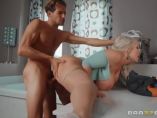 Blonde wife leads this young man thither insane hardcore scenes