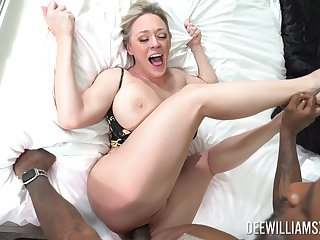 Dee Williams pussy fucked by a black man and made with pay off