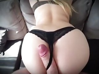 Step mom fucked rough through black thongs by step son