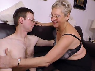 Unpredictable intensify Granny wants his young hanker dick