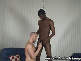 Black hunk wisecracks and ass fucks shivered twink