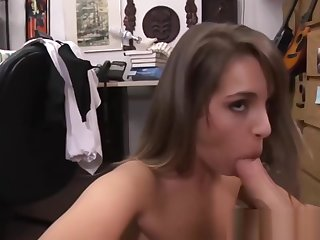 Hot Pitch-dark Chick Gets Her Camel Toe Pussy Banged