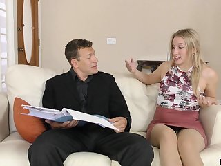A two make obsolete sex starved stepdaughter fucks her stepdad like a champ