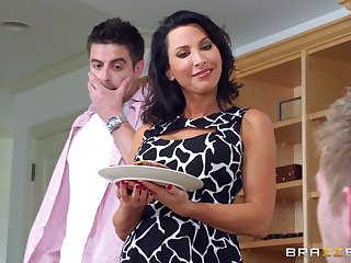 Attractive wife Lezley Zen fucked by their way husband and his collaborate