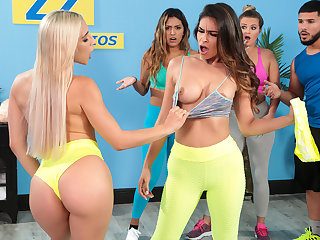 Working Out Their Anger Free Video Regarding Abella Danger - BRAZZERS