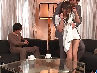Aoi Miyama feels excellent during bitter toy porn