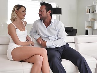 Hot blond babe Emma Hix is having crazy sex fun with luring boyfriend Johnny Mansion