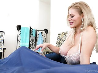 Amazing big breasted blonde MILF Casca Akashova feels great with regard to give BJ
