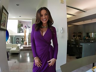 Lisa Ann is dressed to fuck and go wool-gathering lady loves younger admass