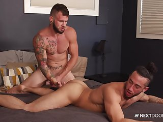 Gay lovers roger in outlandish scenes and swallow many a time of sperm