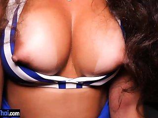 Juicy Brazilian amateur babe with big tits pov sex