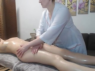 Lesbian mature protected redhead girl with reference to a massage