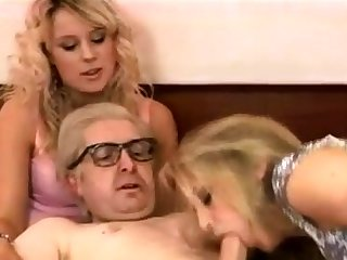 Blonde 18 yr old in all directions a hardcore threesome