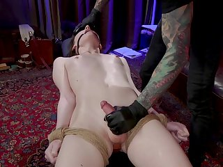 Submissive lap Tgirl Claire Tenebraru moans as she is analfucked doggy