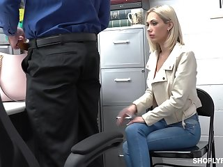 Guilty auburn slender bitch Sky Pierce is hammered by patrolman from behind