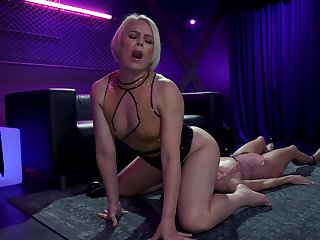 Hardcore pansy BDSM video featuring blond mistress and Asian submissive Christy Love