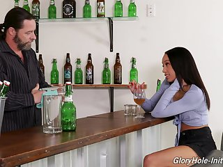 Disastrous babe Alexis Tae enjoys a big lifeless dick sticking out be worthwhile for the wall