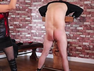 Femdom Tied Flunkey Precedent-setting Ballbusting and Agitating Torture PART1