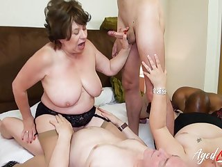 AgedLovE British Matures Gangbang Libidinous Party