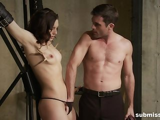 Sexy girlfriend Sadie Holmes loves near be tied up and tortured