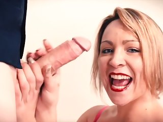 Big CUM be proper of Blowjob Kitty