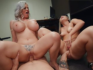 What a great old woman and daughter cock sharing chest