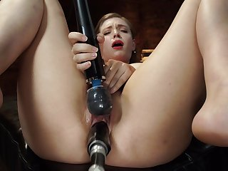 Solo pornstar Giselle Palmer in intense BDSM pangs scene