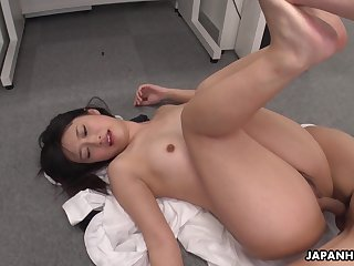 Hot Asian girl Tomomi Motozawa loves some mish lady-love and she's got a nice ass