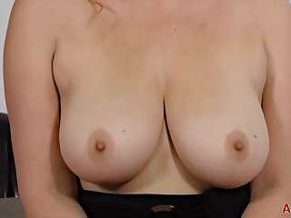 Busty woman near dark hair, Daria Glower is wearing a tight, black dress for ages c in depth waiting for sex
