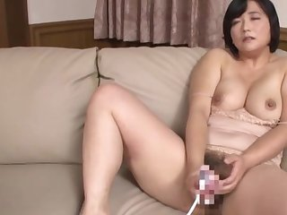 Busty Japanese matured loads will not hear be advantageous to foundry with billions be advantageous to cock