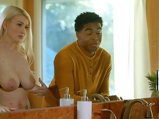 Disgraceful husband enjoys heavy soft boobies of white wifey Emily Wright