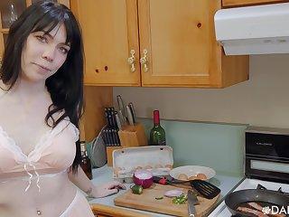 POV video or room-mate Leda Live arrogantly a titjob and eating cum