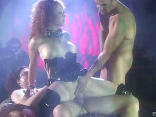 Rough fucking in all holes of slutty stripper Audrey Hollander